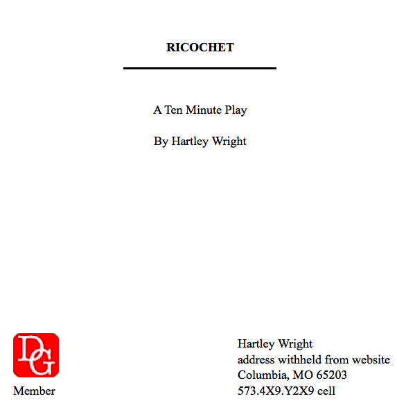 image of a script cover